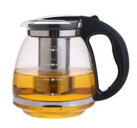 A10060 1.5 Liter Glass Tea Kettle /Pot  with Stainless Steel Filter, Purple/Red
