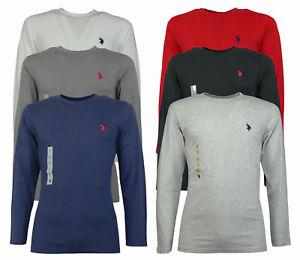 Maglietta uomo t shirt cotone Manica Lunga con logo Us POLO assn tg S M L XL XXL