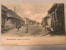 Callejon De California, Barranquilla Columbia Vintage Postcard