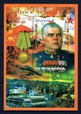 RWANDA 2013 MARSHALS OF THE WAR RADION MALINOVSKY TANKS BATTLEFIELD STAMPS MNH