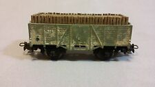Vintage Marklin HO Scale 311 Covered Goods Green Wagon with Mining Timber
