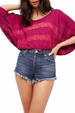 NWT- Free People 'I'm Your Baby' Pullover, Plum - Size Small