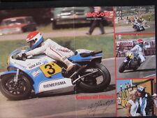 Centerfold Poster NIMAG Riemersma Suzuki RG500 1980 #3 Wil Hartog (NED)