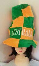 Australia Green & Yellow Tall Top Hat Aussie Party Australian Day