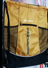 XTEND Perform Drawstring Backpack Sack Gym Tote Travel Shoe Bag NEW Orange/Black