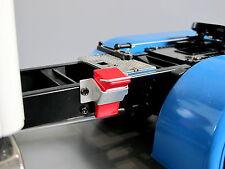 Red Wheel Tire Chock Stopper Holder for Tamiya R/C Toy 1/14 King Hauler Cascadia