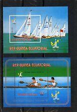 EQUATORIAL GUINEA 1980 WATER SPORTS/SUMMER OLYMPIC GAMES TALLINN 2 S/S MNH