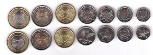 Botswana - set 6 coins 5 10 25 50 Thebe 1 2 Pula 2013 - 2016 UNC Lemberg-Zp