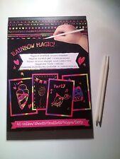 Dicker Kratzblock Neon 40 Blatt mit 2 Kratzstiften ca DIN A5
