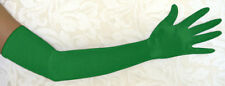 """23"""" GREEN LONG STRETCH SATIN BRIDAL WEDDING COSPLAY PARTY COSTUME OPERA GLOVES"""