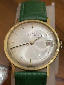 Orologio Eberhard Vintage Cassa In Oro 18kt Fondello Vitrè
