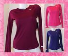 Women's Nike Miler Dri-fit Running Long Sleeve Shirt XS-3XL 596447 NWT
