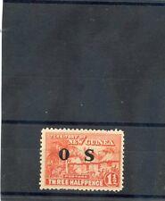 NEW GUINEA Sc O2(SG O23)*F-VF LH 1931 11/2d ORANGE VERMILION, OFFICIAL, $15