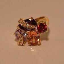 Dolly-Bijoux Fantaisie Grosse Bague T52 54 58 62 Diamant Cz Multicolore 20mm