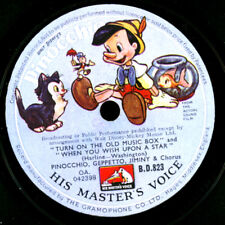 "WALT DISNEY ""PINOCCHIO"" -SOUNDTRACK- Turn on the old Music Box   78rpm S1036"