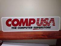 "COMPUSA sign aluminum 6"" x 24"""