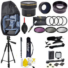 ULTIMATE PRO ACCESSORY FOR CANON XC15 CAMERA HD LENSES TRIPOD FILTERS LED LIGHT