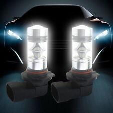 2 x 9005 HB3 H10 6000K 15W LED Projector Fog Driving Light Bulb White 12V