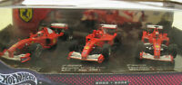 HOT WHEELS B7022 - FERRARI F1-2000 + F2001 + F2002 - Michael Schumacher -1:43
