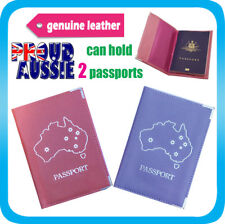 Oz Passport Holder Leather Travel Wallet Cover Case Protector Organizer Pink