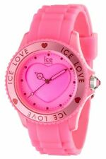 Ice Watch Women's LO.PK.U.S.10 Large Pink Dial Pink Silicone Strap Quartz Watch