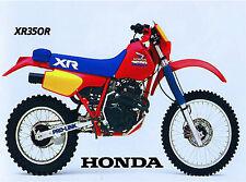 Vintage 1985 Honda XR350r Dirtbike 18 x 24 poster      XR350 XR 350