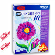 Brother Pe-Design 10 Embroidery Ful Software | 2020 Free Gifts| Delivery 3 s