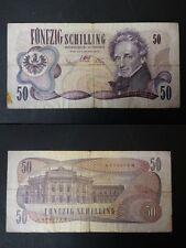 BANCONOTA AUSTRIA 50 SCHILLING 1970 COME DA FOTO