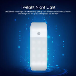 12 LED USB Rechargeable PIR Motion Induction Sensor Closet Night Lamp Light  S8