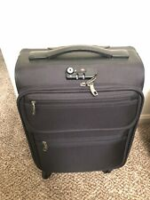 """Suitcase 17""""x13""""x8"""" Rolling Case - Black Small Size For Travel"""