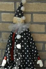 Vintage Handmade Cute Clown Figurine Signed Jill'S Creations 29""