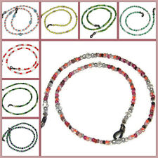 Crystal & Beaded Eye Sun Glasses Cord Lanyard Chain, Female Various Colours, New