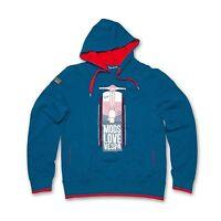 Vespa Mens Hooded Mods Sweatshirt Blue With Logo New RRP £79.99!!! 605726M0