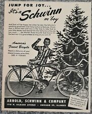 VINTAGE 1950 SCHWINN DELUXE AUTOCYCLE BICYCLE ADVERTISEMENT