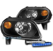 FOR 06-11 CHEVY HHR LS LT SS BLACK HEADLIGHT LAMP+BLUE LED DRL SIGNAL LEFT+RIGHT