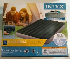 "Intex Full 10"" DuraBeam Expedition Airbed Mattress with Battery Pump New"
