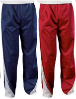 Soffe MJ Men's Poly Splice Warm Up Pant - Choose Red or Navy Blue - XL or 2XL