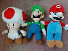 NINTENDO SUPER MARIO Plush Bundle Mario Luigi Toad