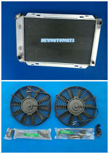 Aluminum Radiator + Fans For Ford Mustang AT 1979-1993 92 91 90 89 88 87