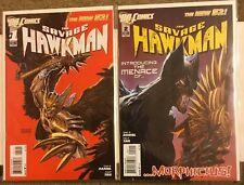 DC COMICS SAVAGE HAWKMAN 1 2 NEW 52 2011 morphicius rising