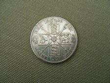 1889 REGINA VITTORIA DOPPIO FIORINO moneta d'argento (grado molto buono)