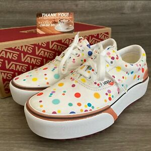 Vans Era Stacked UV Ink Floral True White Size 10 Women's New With Box NWOT