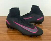 Nike JR Mercurial Superfly 5 FG Youth Soccer Cleats (831943-006) Black / SIZE 4Y
