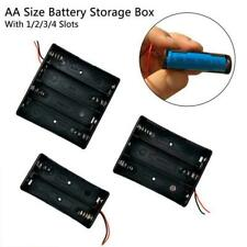 Battery Holder Box Storage Case open/closed switch 1x 2x 3x 4 Cell