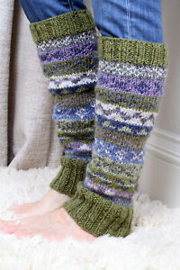 Pachamama Finisterre Leg Warmers Olive Made in Nepal