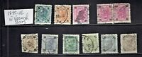 1899-02  AUSTRIA EMPIRE Heller Values w Varnish Bars P/SET Sc#72a- Used See Note