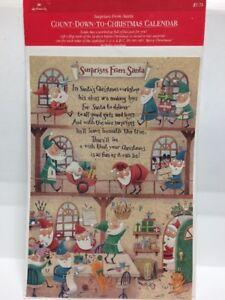 "Vintage Hallmark Surprises From Santa ""COUNT-DOWN-TO-CHRISTMAS Advent Calendar"