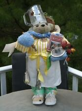 Apple Whimseys Chef Cook Bear Doll & Tag Signed Lita Gates 1/100 Limited Edition