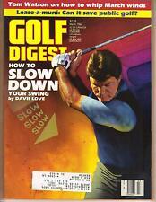 GOLF DIGEST MAGAZINE MARCH 1986