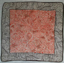 Vintage Handkerchief SILK Hankie Mens Top Pocket Square ART NOUVEAU